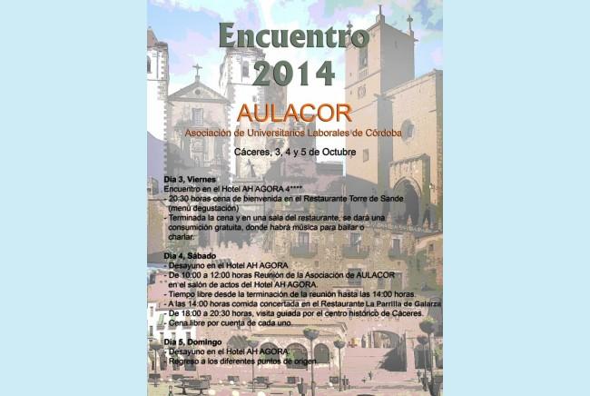 Imagen 2 de ENCUENTRO EN CÁCERES 3-5 Octubre de 2014